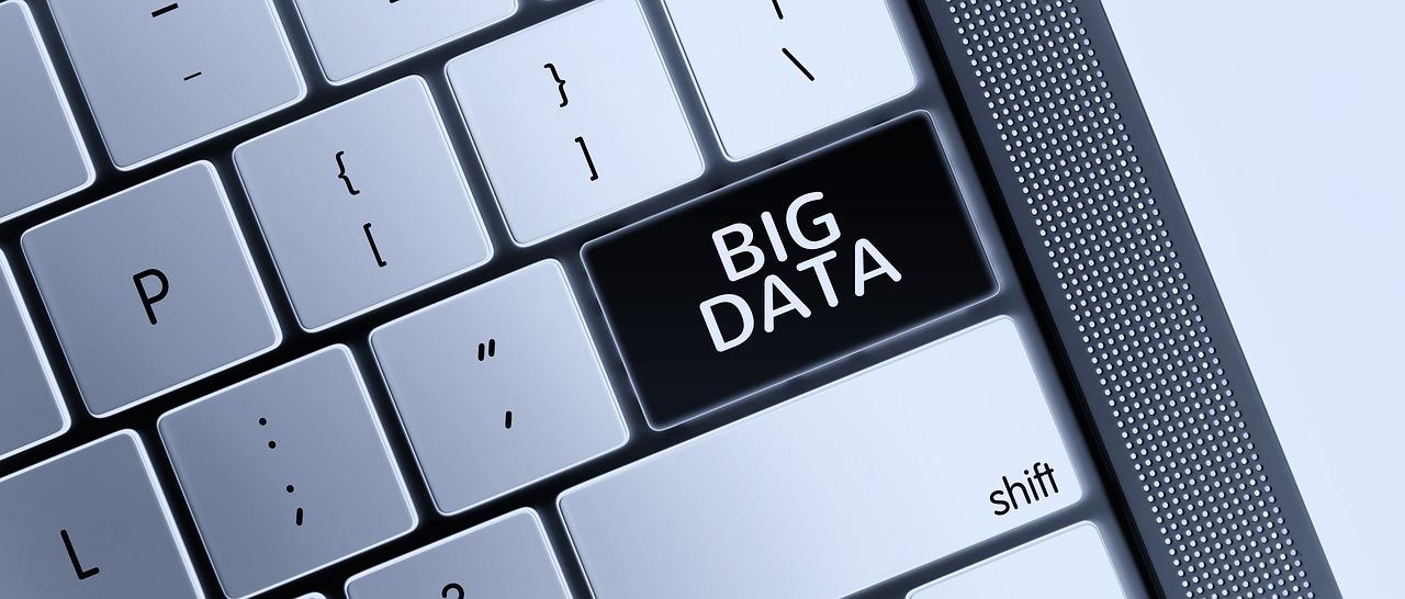 imagen de big data en teclado